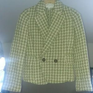 Banana Republic wool blend blazer coat green